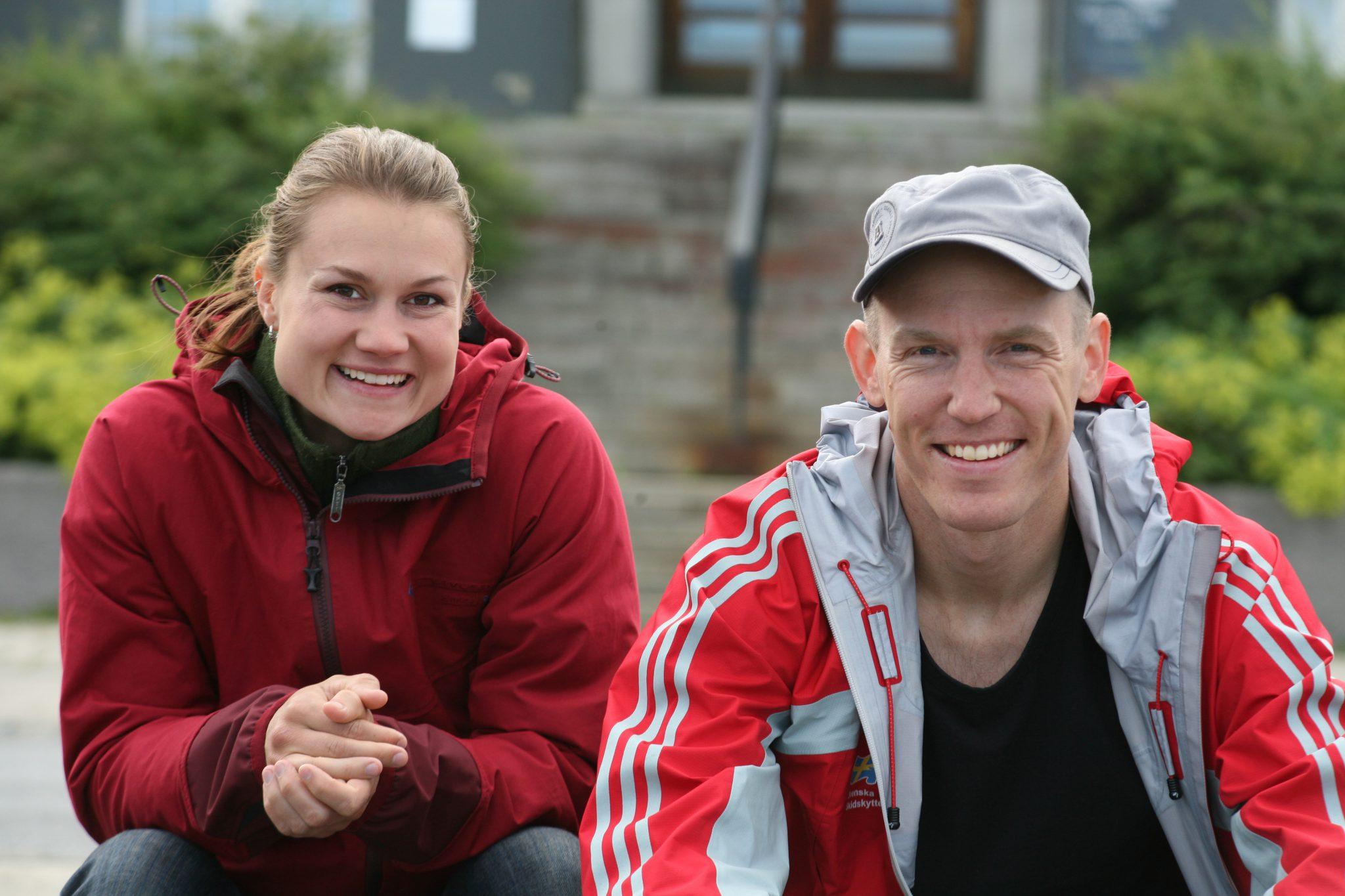 Armbryterskan Heidi Andersson och skidskytten Björn Ferry