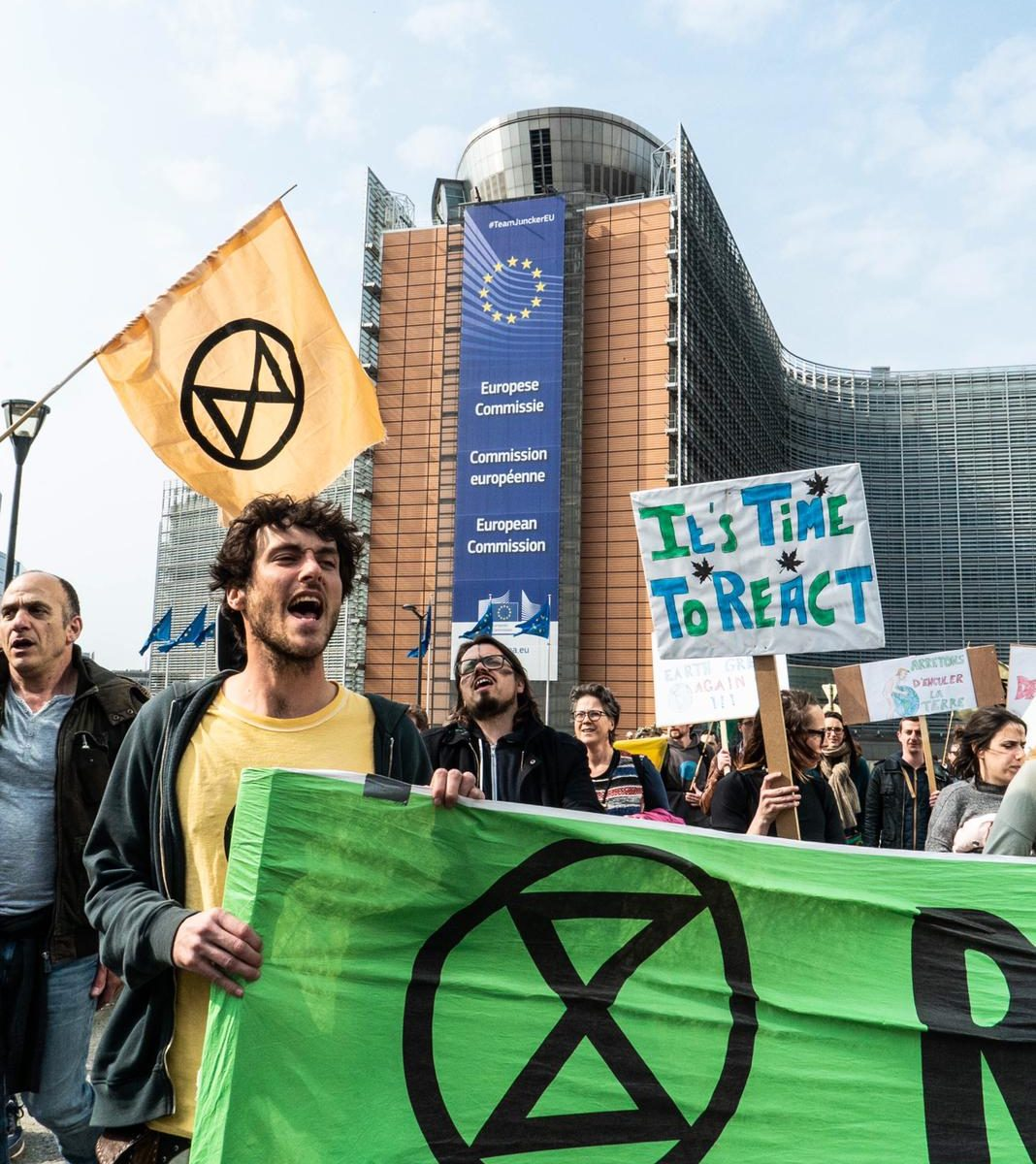 Extinction Rebellion Brussels by Nour Livia