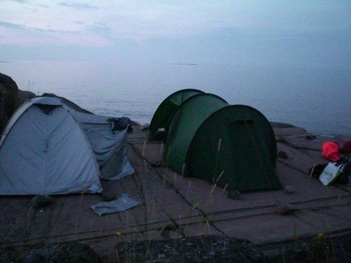 Nattläger utanför Gräsö, på kajaktur